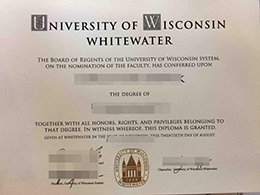 University of Wisconsin–Whitewater diploma