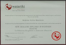 Waiariki Institute of Technology diploma