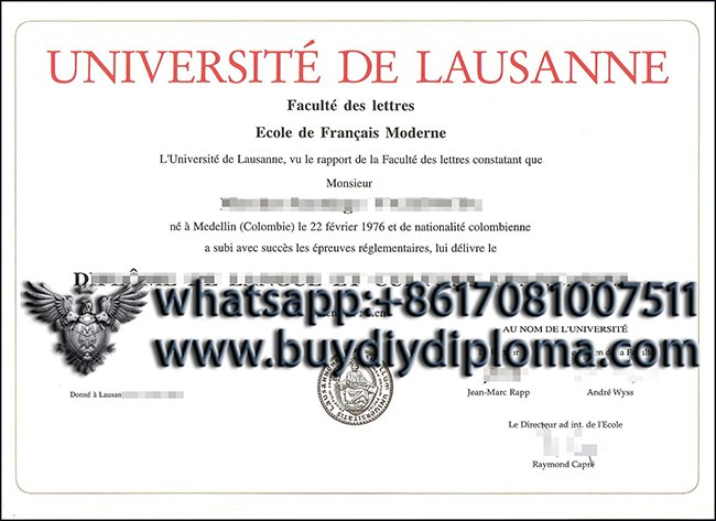 How can I get a fake University of Lausanne diploma online?