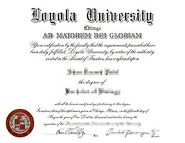 Loyola University Chicago diploma