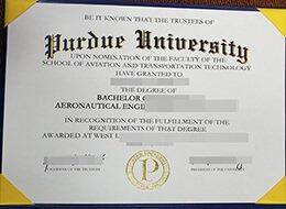 Purdue University diploma