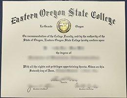 Eastern Oregon University diploma