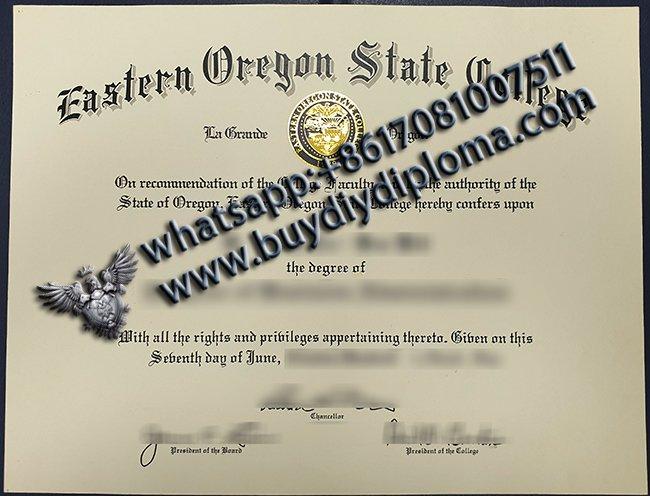 buy fake eastern oregon state college diploma