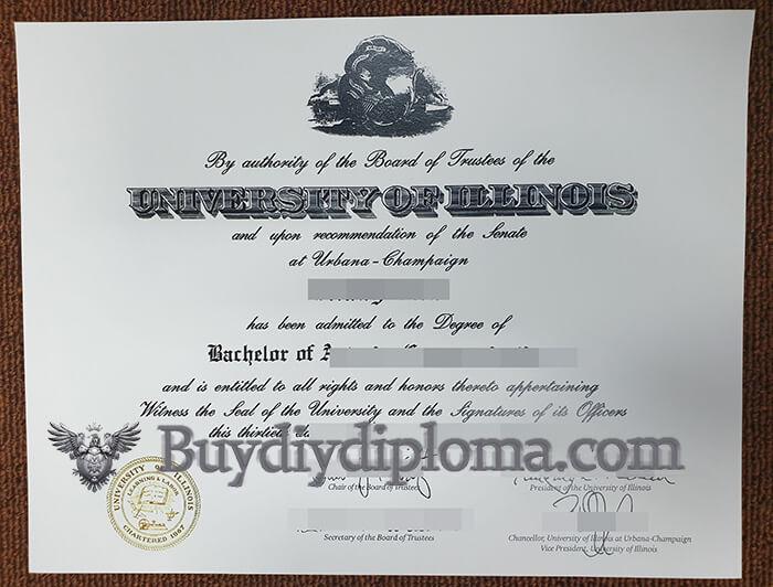 University of Illinois at Urbana–Champaign fake diploma sample, Buy UIUC Fake Diploma