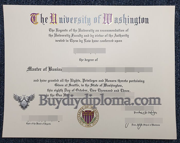 University of Washington fake diploma