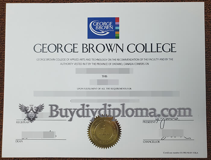 Purchase a fake George Brown College degree,  Order fake degree in Canada