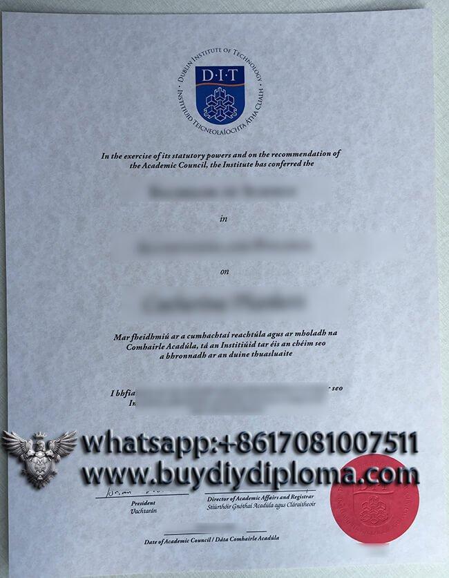 fake Dublin Institute of Technology diploma