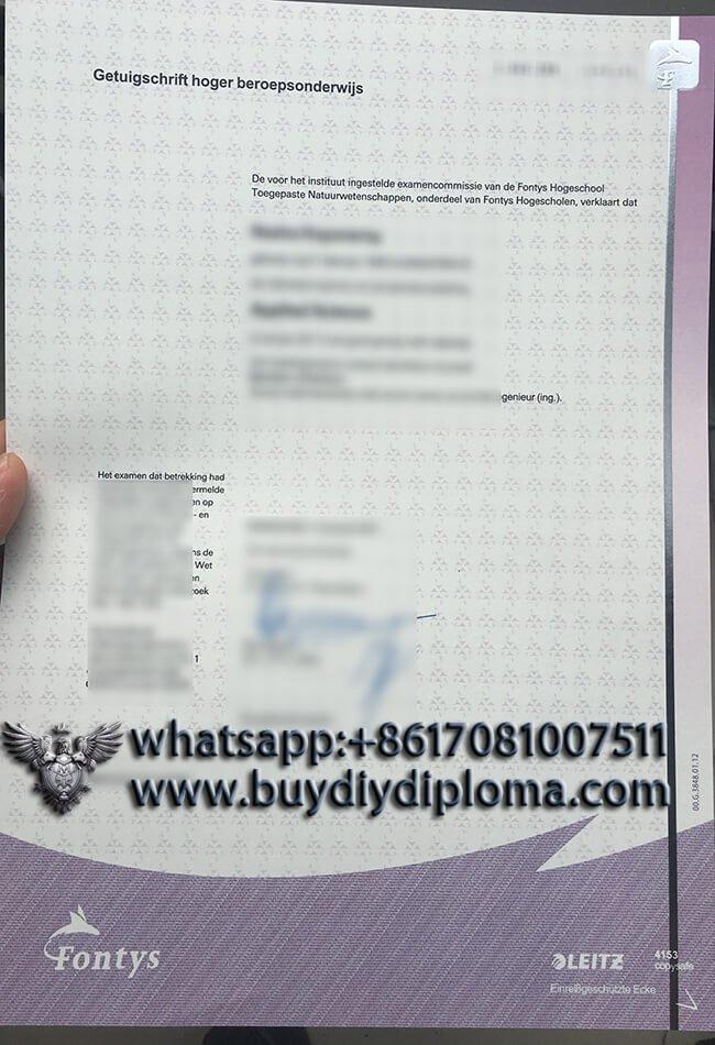 Fontys fake degree