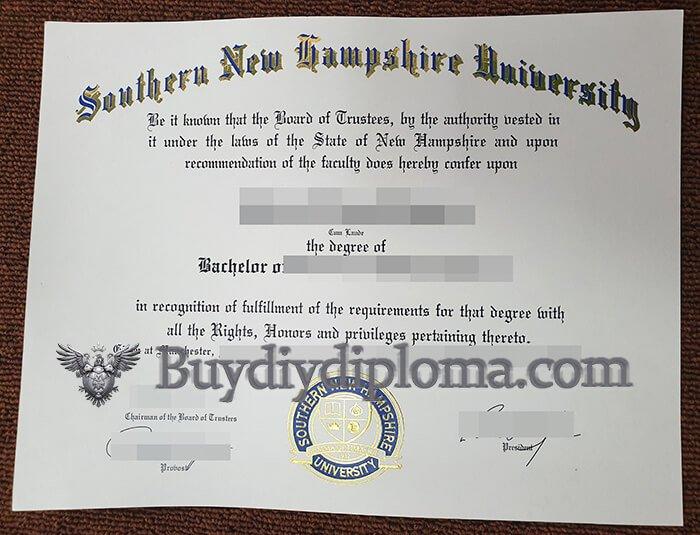 SNHU diploma