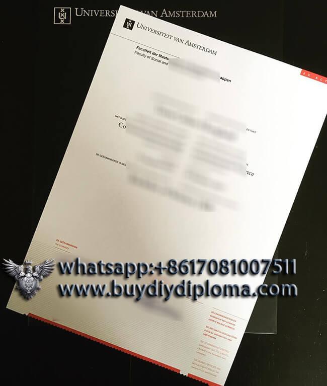 Universiteit van Amsterdam Diploma