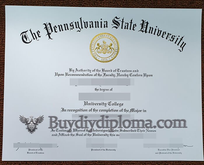 fake Pennsylvania State University diploma?