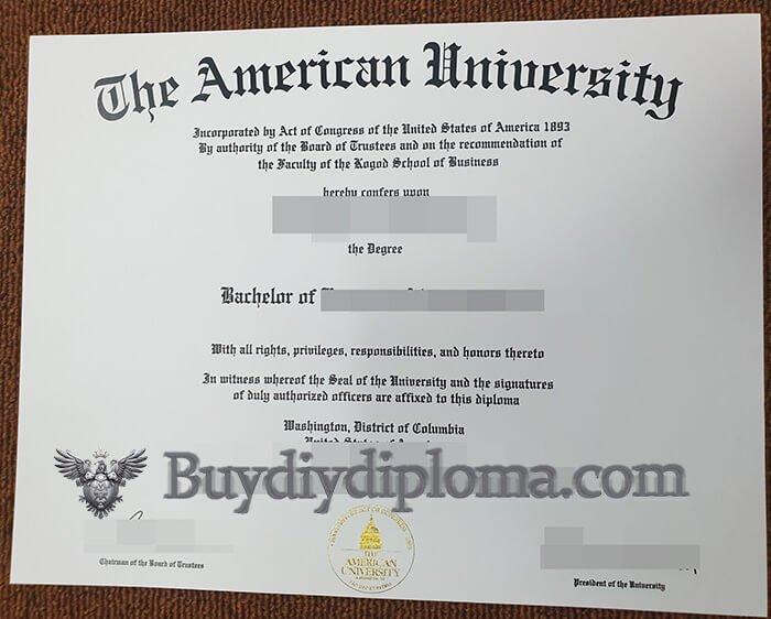 American University diploma