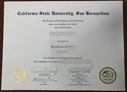 fake CSUSB diploma