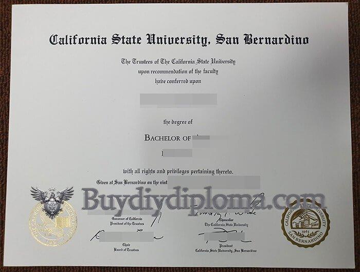 CSUSB diploma