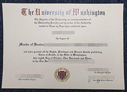 University of Washington diploma