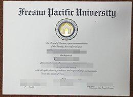 Fresno Pacific University diploma