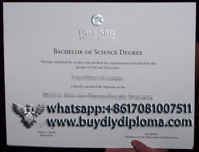 Full Sail University fake diploma sample, buy fake diploma