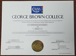 George Brown College diploma
