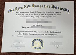 Southern New Hampshire University diploma