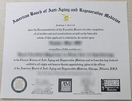 American Academy of Anti-Aging Medicine diploma