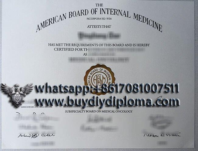 fake American Board of Internal Medicine degree