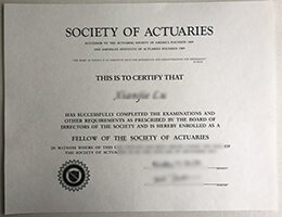 Society of Actuaries certificate