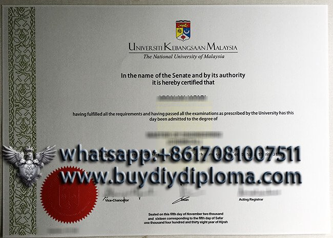 Where can I order a fake National University of Malaysia degree