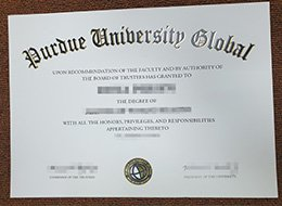 Purdue University Global College diploma