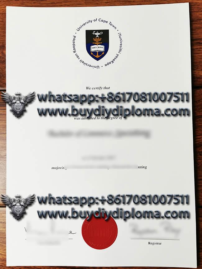 University of Cape Town fake diploma , buy fake degree online