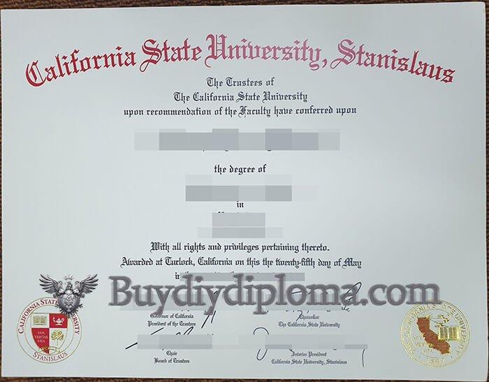 CSU Stanislaus fake degree