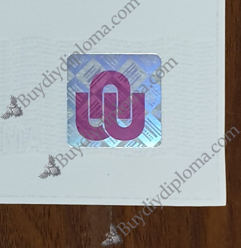 North-west university diploma with Hologram