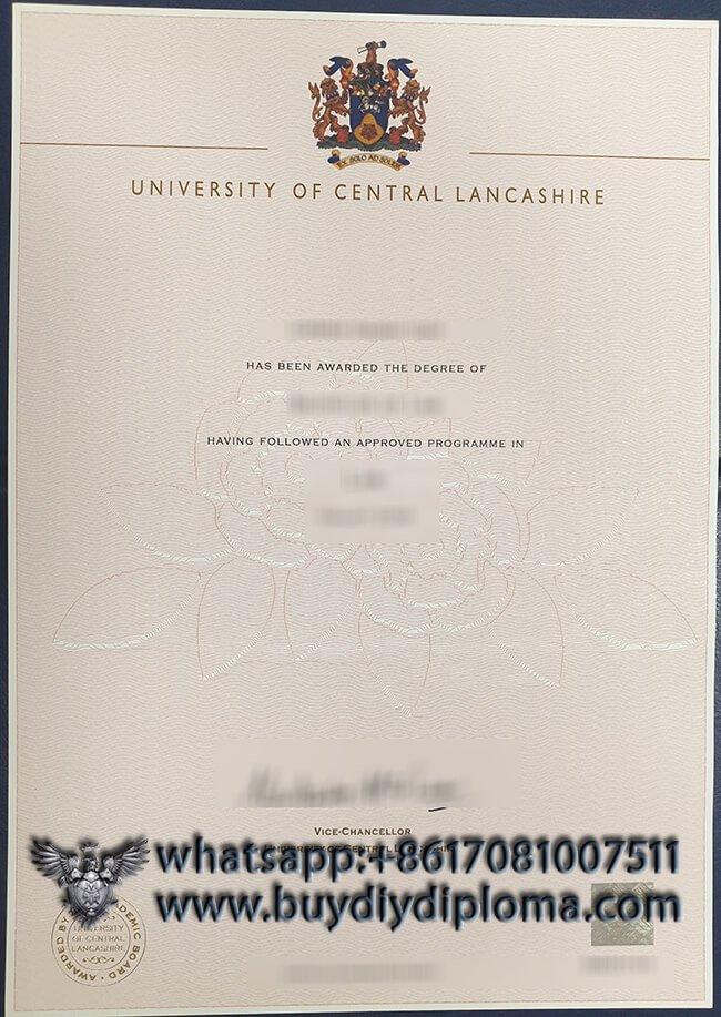 University of Central Lancashire fake diploma, buy fake degree online