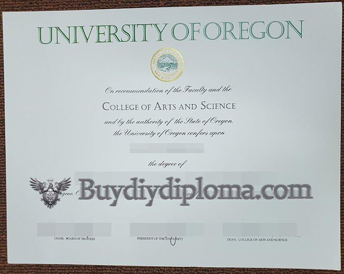 University of Oregon diploma