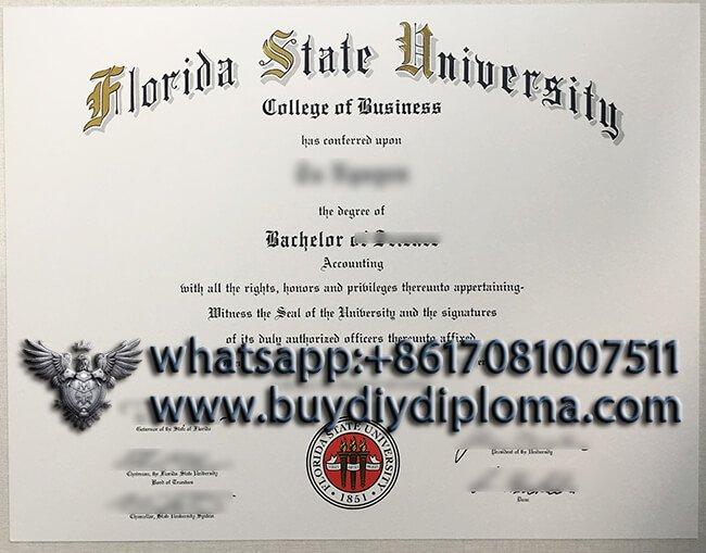 Florida State University  diloma