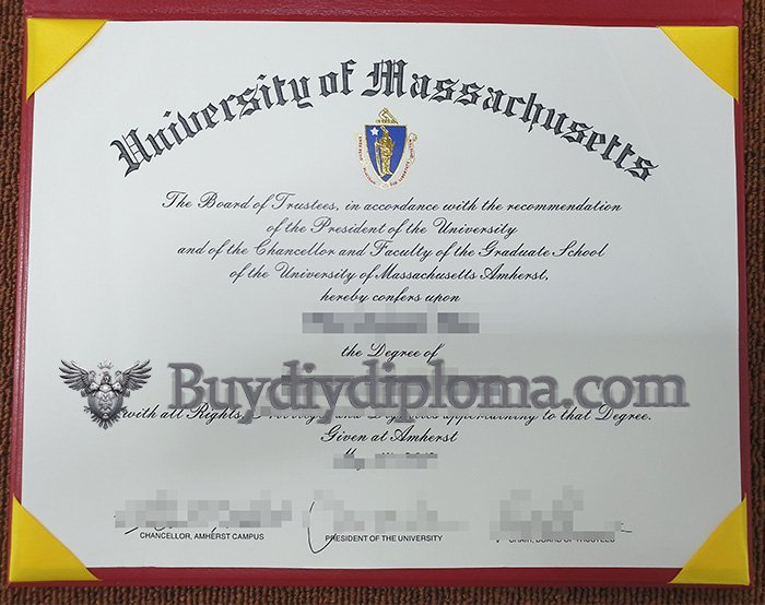 fake University of Massachusetts degree