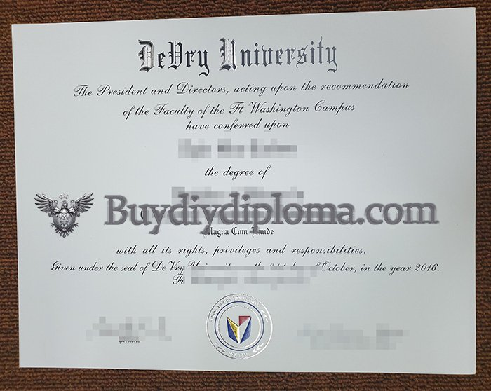 fake DeVry University degree quickly?