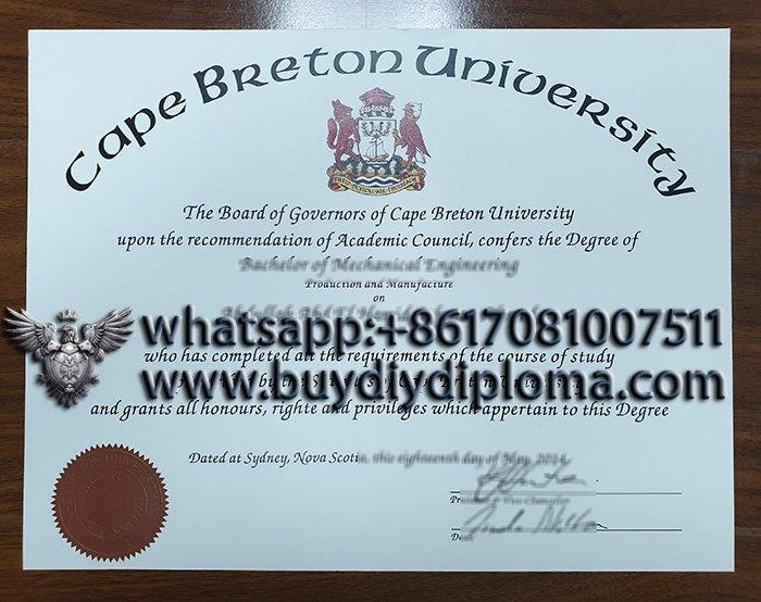 fake Cape Breton University degree