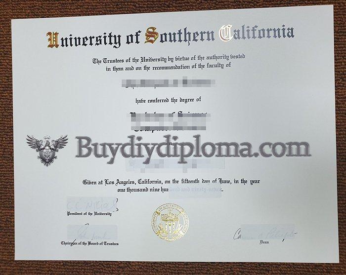 fake University of Southern California degree