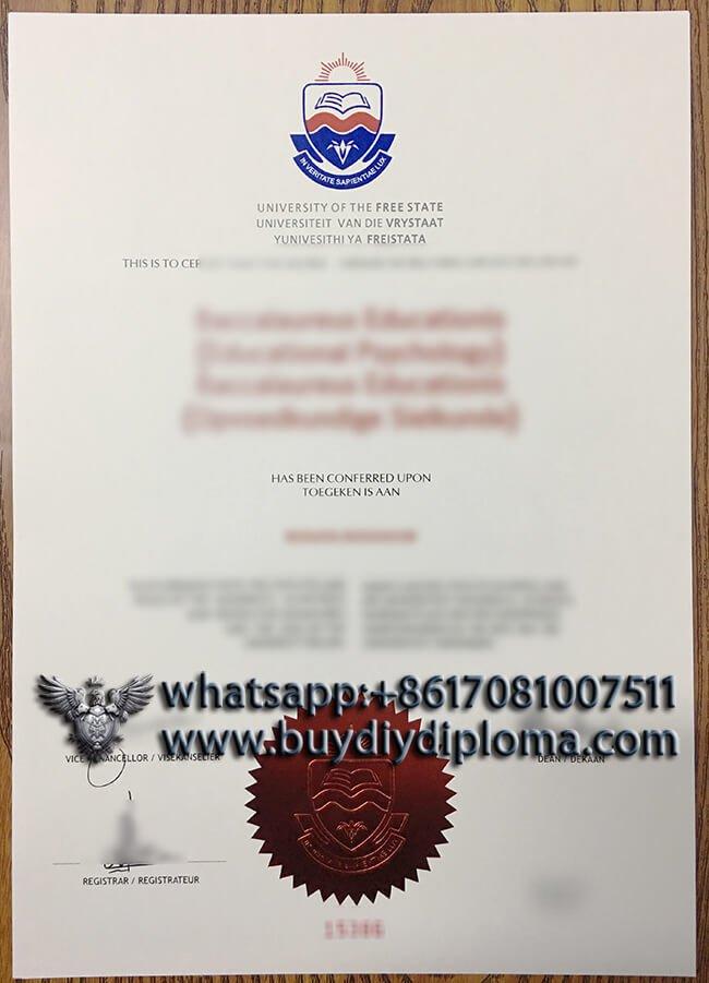 University of the Free State fake diploma