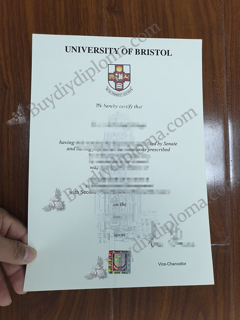 University of Bristol diploma with Hologram