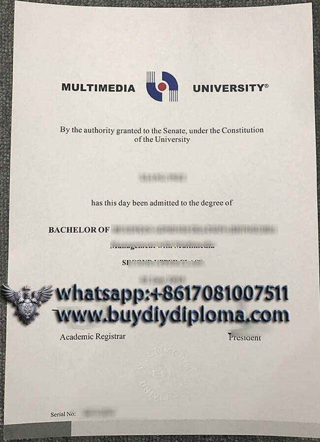Multimedia University diploma, buy fake MMU degree