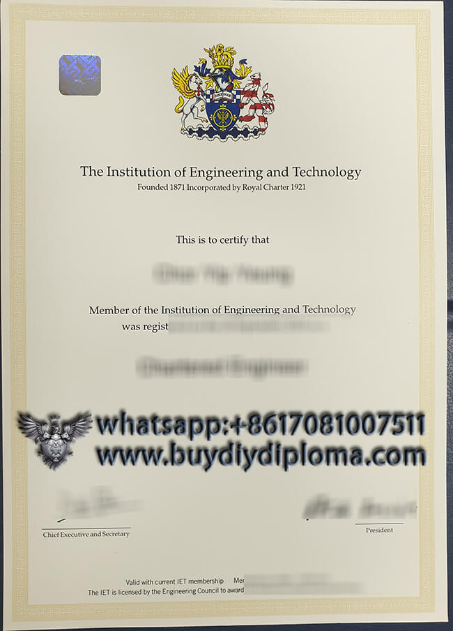 Institution of Engineering and Technology diploma, buy fake diploma online