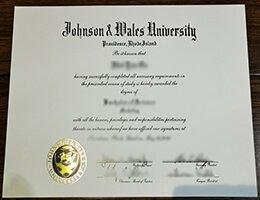 Johnson & Wales University diploma