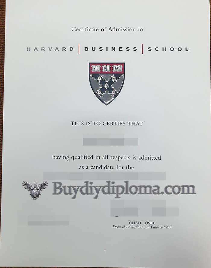 Harvard Business School fake diploma