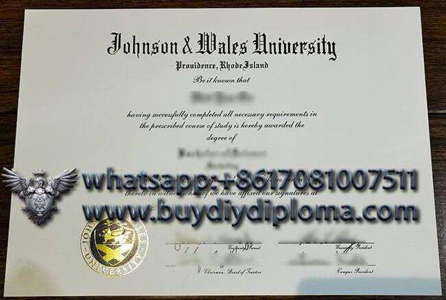 fake Johnson & Wales University diploma