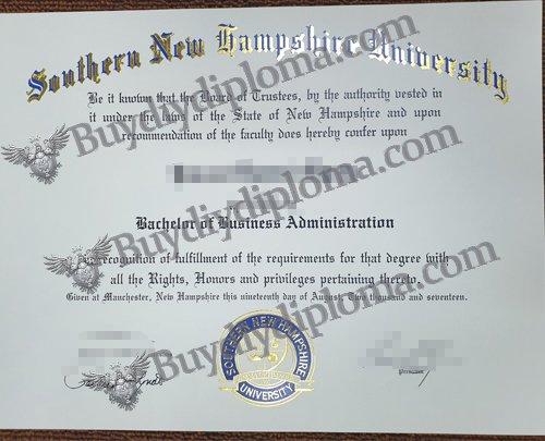fake Southern New Hampshier University diploma, fake SNHU diploma