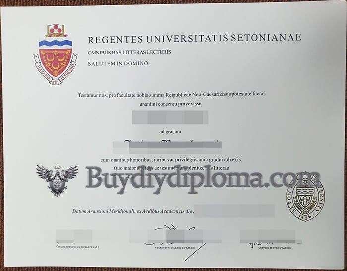 Seton Hall University diploma