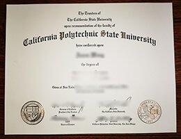 California Polytechnic State University diploma