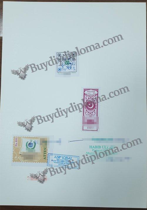 fake diploma stamp