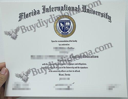 Florida International University diploma, fake FIU diploma,